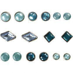 Vivi Gade Design Deco Rivets, size 8-18 mm, blue, London, 16asstd.