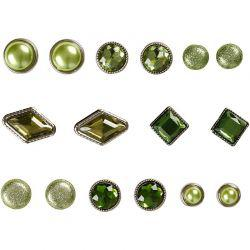 Vivi Gade Design Deco Rivets, size 8-18 mm, green, London, 16asstd.