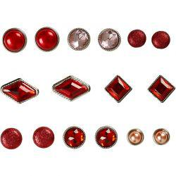 Vivi Gade Design Deco Rivets, size 8-18 mm, red, Copenhagen, 16asstd.