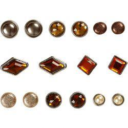 Vivi Gade Design Deco Rivets, size 8-18 mm, brown, Oslo, 16asstd.
