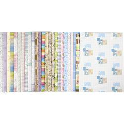 Wrapping Paper, sheet 52x75 cm,  80 g, 50asstd sheets.