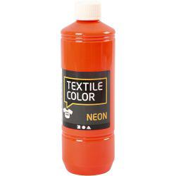 Textile Color, neon orange, 500ml.