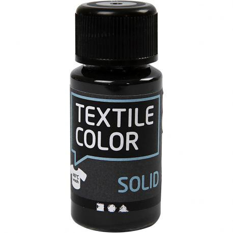 Textile Solid, black, opaque, 50ml.