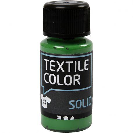 Textile Solid, brilliant green, Opaque, 50ml.