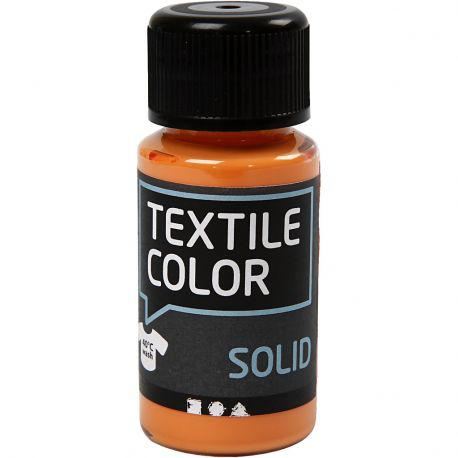 Textile Solid, orange, Opaque, 50ml.