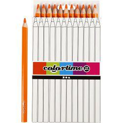 Colortime colouring pencils, lead: 5 mm, orange, Jumbo, 12pcs.