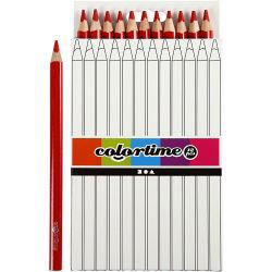 Colortime colouring pencils, lead: 5 mm, red, Jumbo, 12pcs.