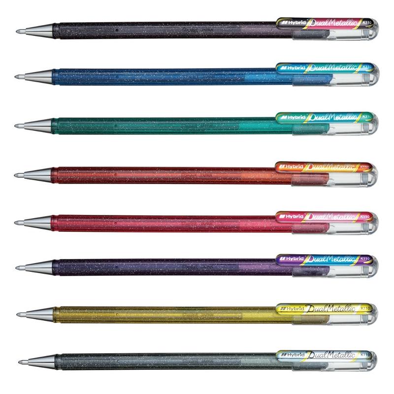 Hybrid K110 Dual Metallic Pens (1mm Nib)