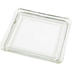 Glass Plate, size 13x13 cm, inner size 10x10 cm, 1pc.