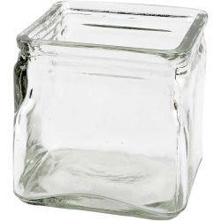 Square Candle Holder, size 10x10 cm, H: 10 cm, 12pcs.