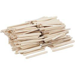 Lolly Sticks, mini, L: 5,5 cm, W: 6 mm, birch, 400pcs.