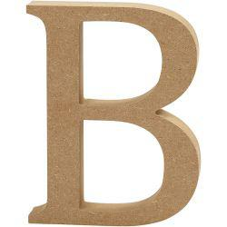 Letter, B, H: 13 cm, thickness 2 cm, MDF, 1pc.