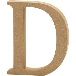 Letter, D, H: 13 cm, thickness 2 cm, MDF, 1pc.