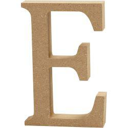 Letter, E, H: 13 cm, thickness 2 cm, MDF, 1pc.