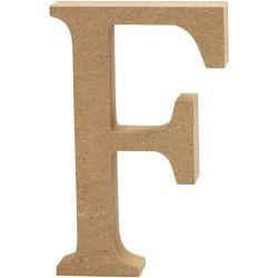 Letter, F, H: 13 cm, thickness 2 cm, MDF, 1pc.