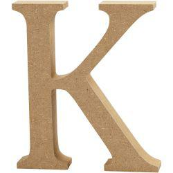 Letter, K, H: 13 cm, thickness 2 cm, MDF, 1pc.