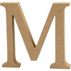 Letter, M, H: 13 cm, thickness 2 cm, MDF, 1pc.