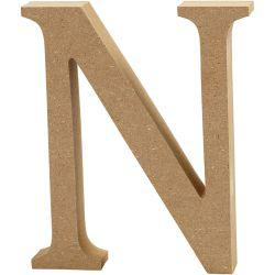 Letter, N, H: 13 cm, thickness 2 cm, MDF, 1pc.
