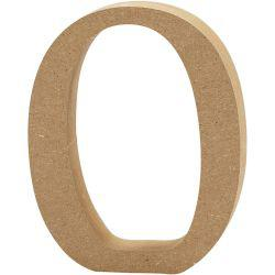 Letter, O, H: 13 cm, thickness 2 cm, MDF, 1pc.