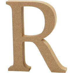 Letter, R, H: 13 cm, thickness 2 cm, MDF, 1pc.