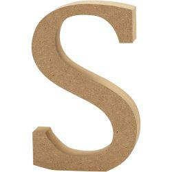 Letter, S, H: 13 cm, thickness 2 cm, MDF, 1pc.