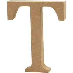 Letter, T, H: 13 cm, thickness 2 cm, MDF, 1pc.