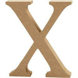 Letter, X, H: 13 cm, thickness 2 cm, MDF, 1pc.
