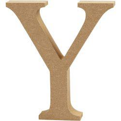 Letter, Y, H: 13 cm, thickness 2 cm, MDF, 1pc.