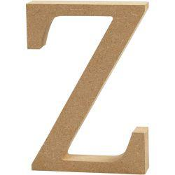 Letter, Z, H: 13 cm, thickness 2 cm, MDF, 1pc.