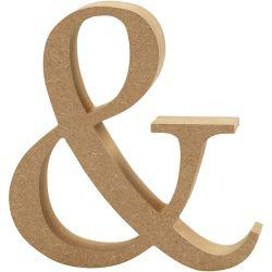 Symbol,  & , H: 13 cm, thickness 2 cm, MDF, 1pc.