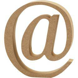 Symbol, @, H: 13 cm, thickness 2 cm, MDF, 1pc.