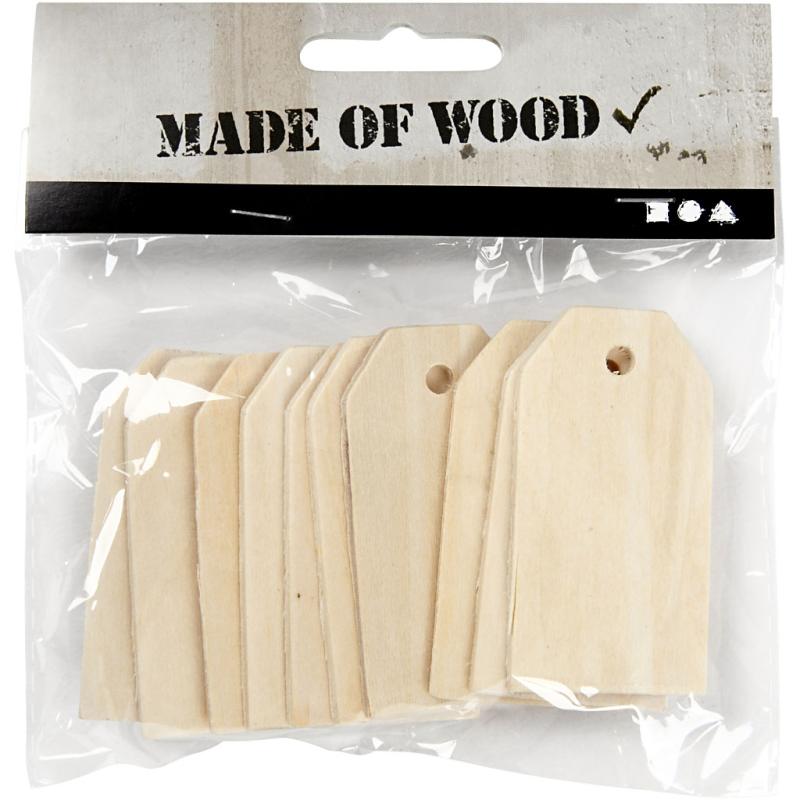Wooden Manilla Tags (10 Pcs)