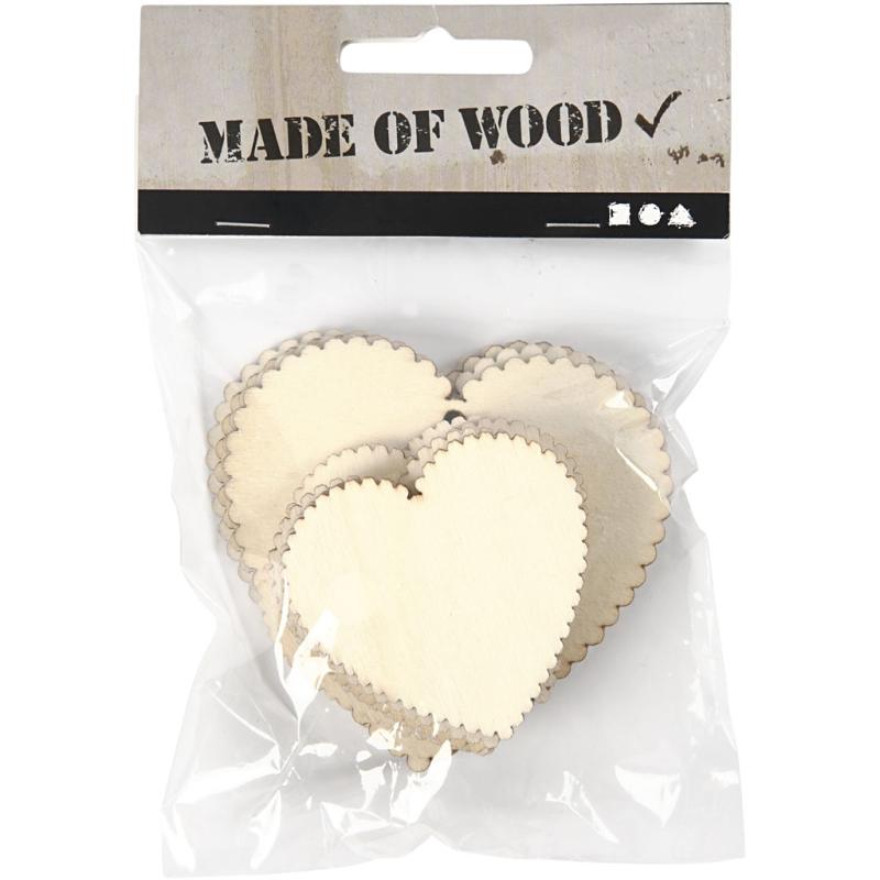Decorative Wooden Hearts (12 Pcs)