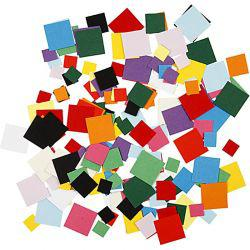 Card Mosaics, size 10+15+20 mm, square, 180g.