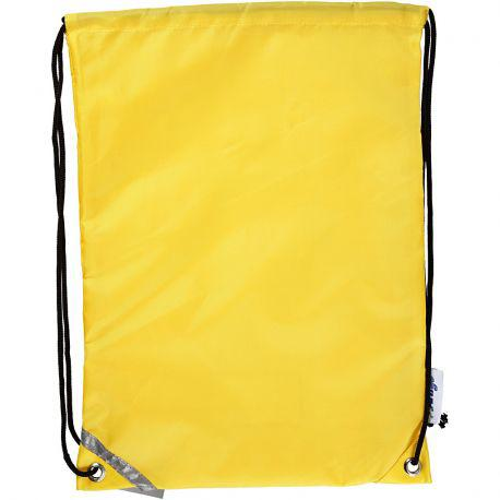 Drawstring bag, size 31x44 cm, yellow, 1pc. - Cowling & Wilcox Ltd