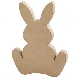 Large Papier-Mâché Bunny (25cm)
