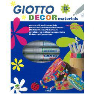 Giotto Decor Materials Marker Set of 12