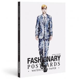 Fashionary Watercolour Postcards Book: Men