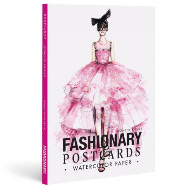 Fashionary Watercolour Postcards Book: Women
