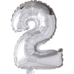 Happy Moments Foil Balloon, H: 41 cm, silver, 2, 1pc.