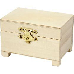 Treasure Chest, size 6x9x6 cm, empress wood, 3pcs.