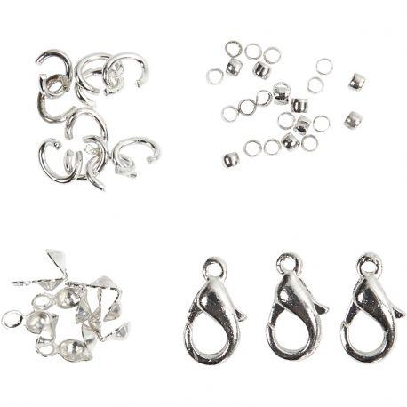 Jewellery , silver-plated, 1assortment.