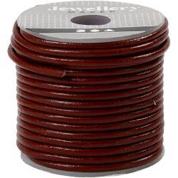 Leather Cord, thickness 2 mm, dark red, 10m.