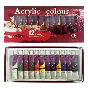 Acrylic Colour Paint Set (12 x 12ml)