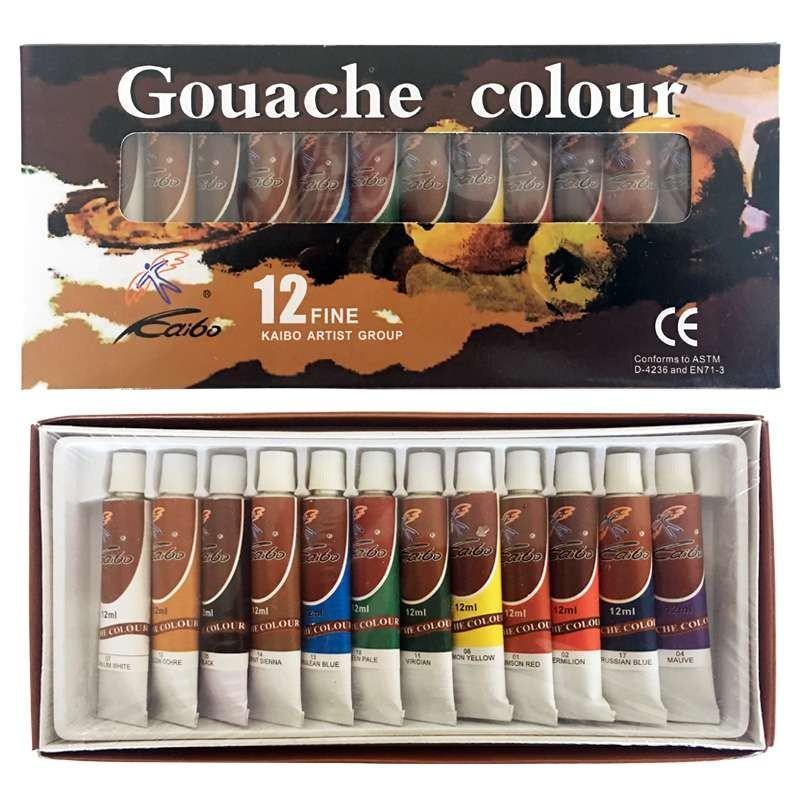 Gouache Colour Paint Set (12 x 12ml)