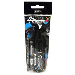 4Artist Marker Duo Pack (Black)