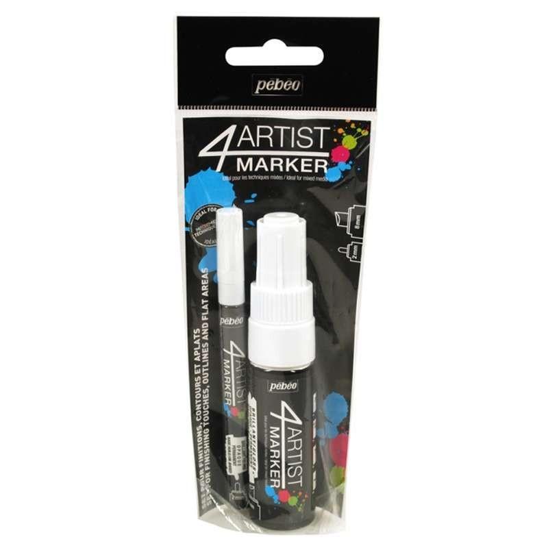 4Artist Marker Duo Pack (White)