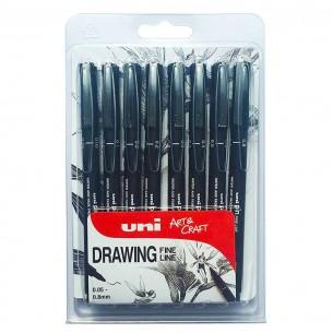 Pin Fine Line Pen Wallet (8 Pens)