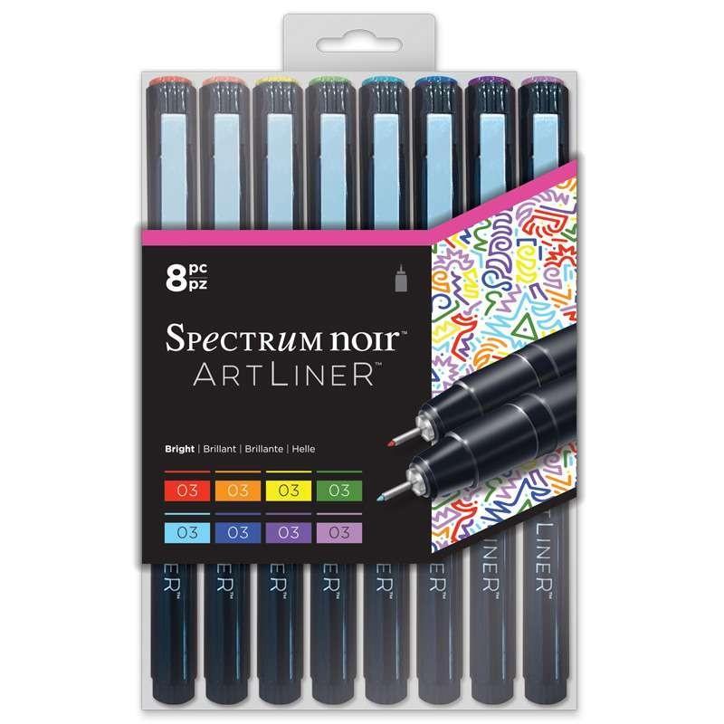 Artliner Marker Set of 8: Bright