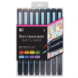 Artliner Marker Set of 8: Bright Brush